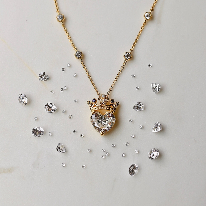 heart jewelry bridesmaid gift luxury