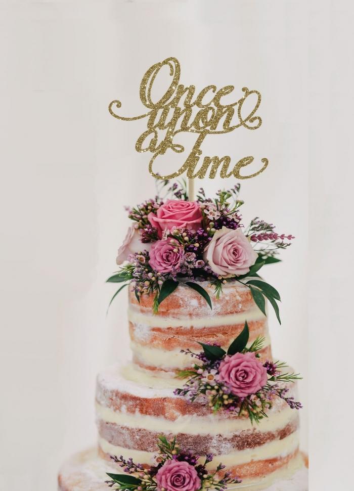 fairytale wedding theme cake topper