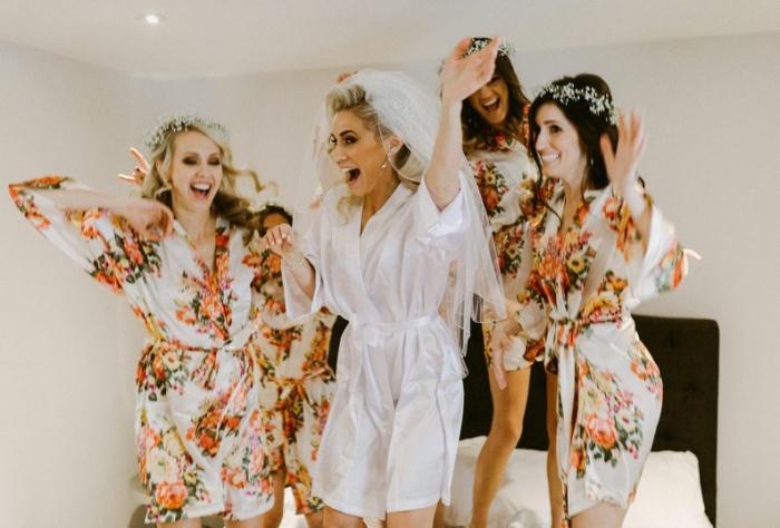 silk bridesmaid robes