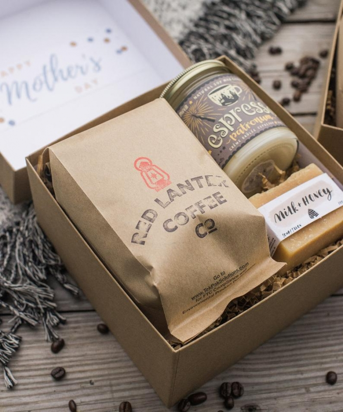 coffee gift box with espresso candle