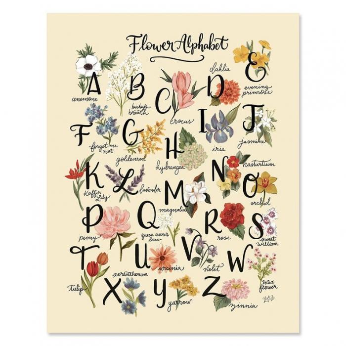 floral wall art print