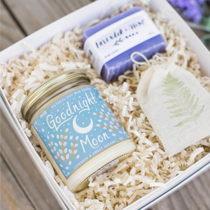 lavender gift box mother of the bride