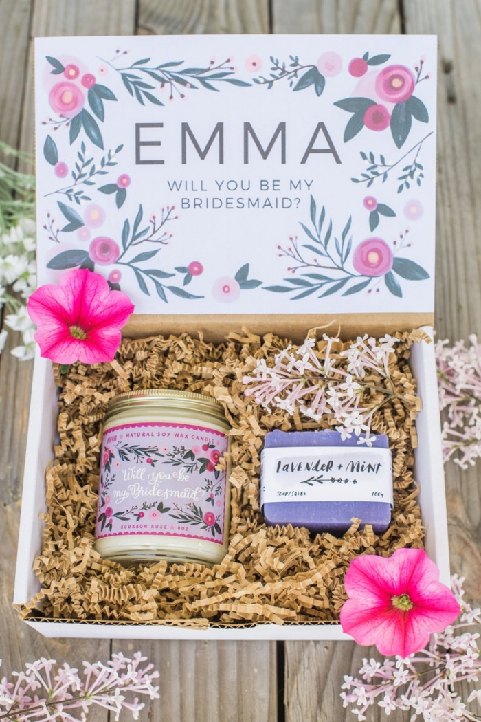 personalized bridesmaid proposal gift box
