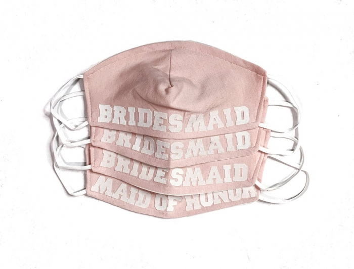 bridal party face mask etsy pink