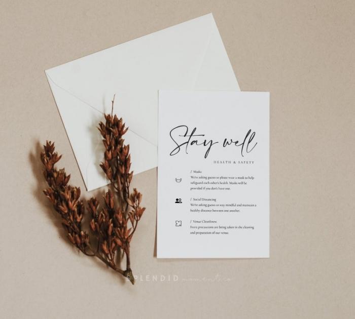 covid wedding enclosure card