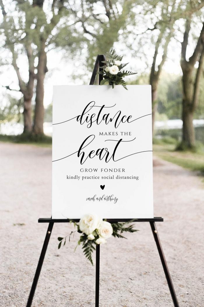 covid wedding signs