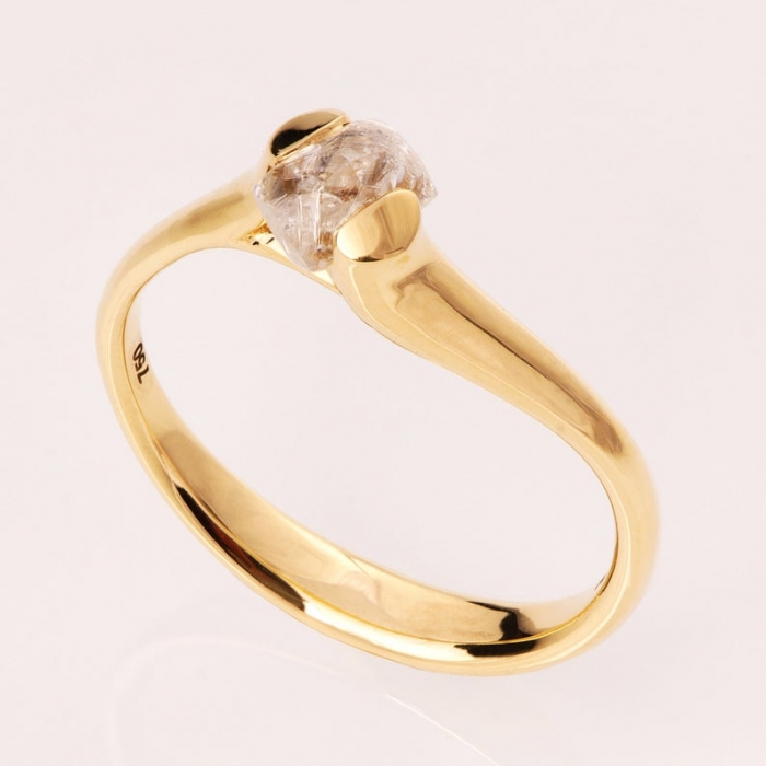 gold raw engagement ring